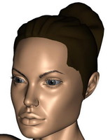 3d model of angelina jolie