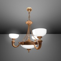 3d light steel gold model