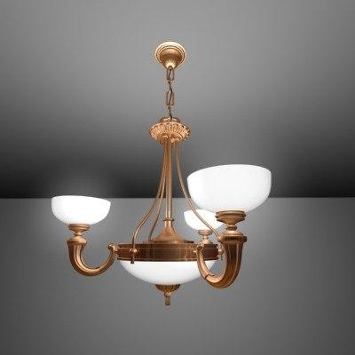 3d light steel gold model