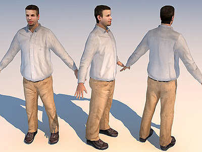 3ds max character casual 01
