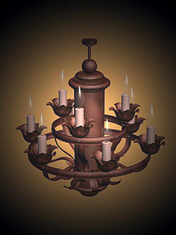 3dsmax copper chandilier1