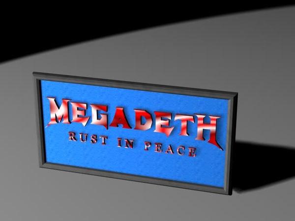 3ds frame megadeth