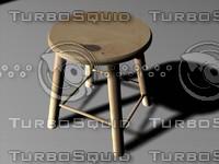 small stool 3d model
