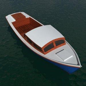 3d wooden fishing boat model