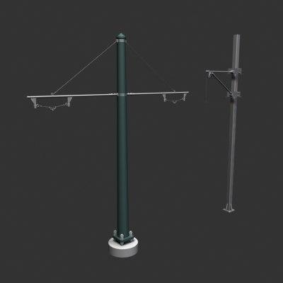 ocs poles 3d model