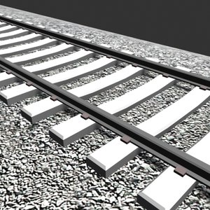 3ds max tie rail tracks
