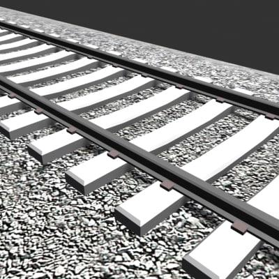 3ds max tie rail tracks