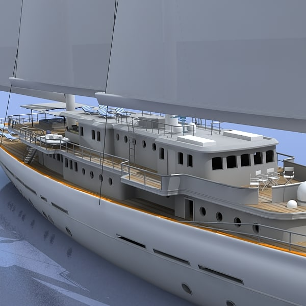 3ds max classic yatch