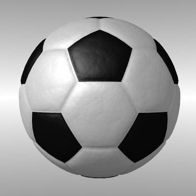 soccer balls 3d model