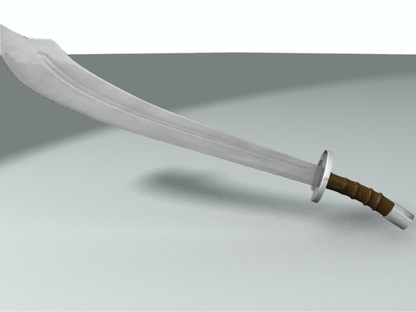 3d model chinese broadsword