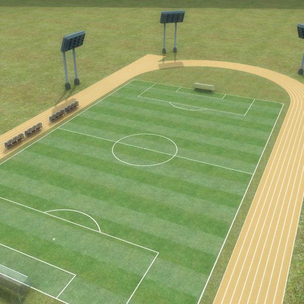 soccer field 3d model