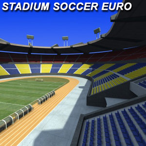 3d soccer stadium model
