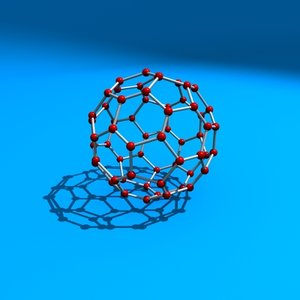 3d model buckyball carbon