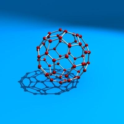 3d model buckyball carbon