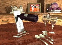 Wine Table Scene