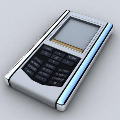 generic phone 3d max