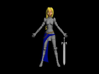 3d joan arc model