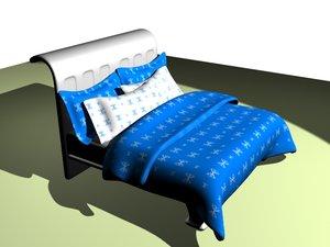 winter bed 3d max