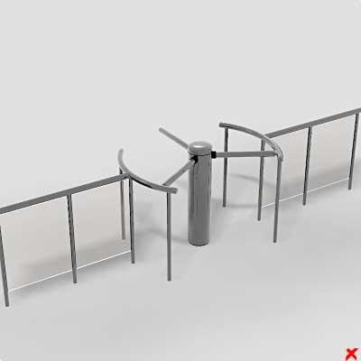 turnstile gate 3d model