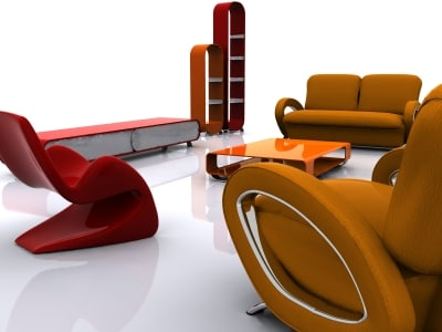 3ds max living furnitures