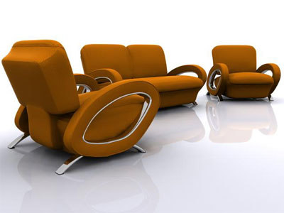3d modern living sofa