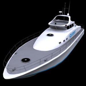 motor yacht 3d max