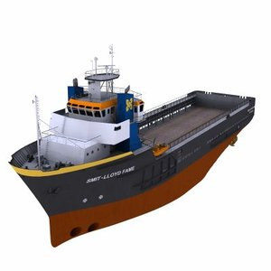 psv platform vessel supplies 3d model