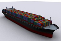 cargo ship vessel transport 3d model