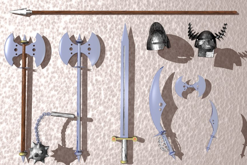 weapons set 3ds