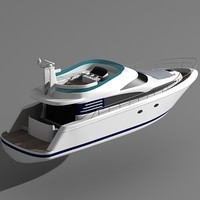 fairline squadron 52 motor boat 3ds
