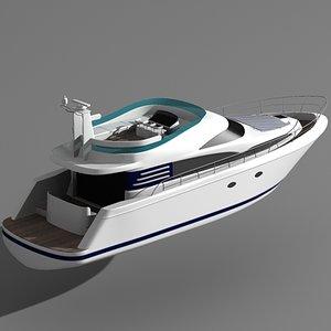 fairline squadron 52 motor boat 3ds