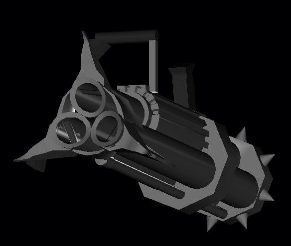 cannon gun 3d model