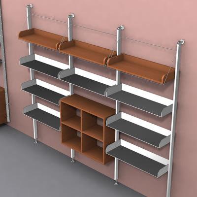 3d shelf units design