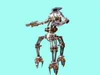 3d model chrome droid