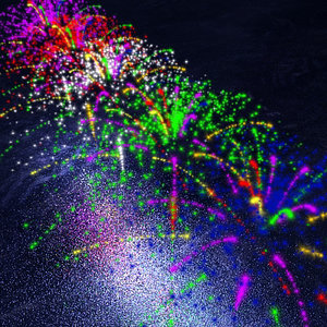 particle fireworks 3d model