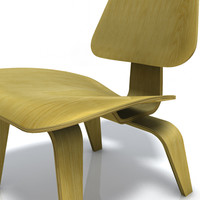 3d model eames plywood lounge chair