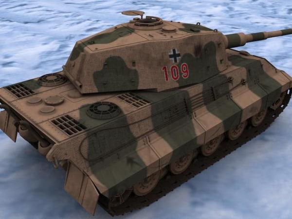 3d model german king tiger