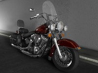 harley fatboy 3d model