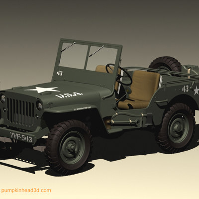 willys wwii jeep 3d c4d