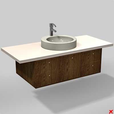 3d model sink