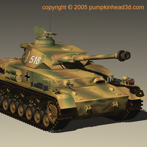 wwii panzer tank 3d model
