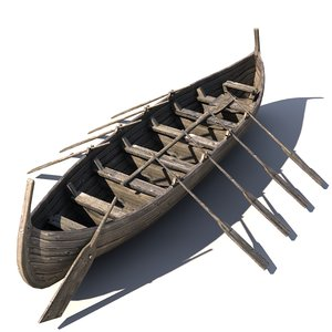 viking boat 3d 3ds