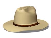 cowboy hat 3d 3ds