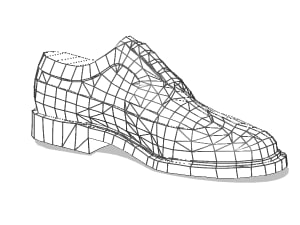 3d model wingtip shoe