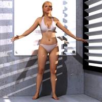 3d ingrid realistic female model