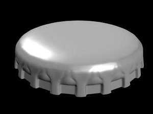 3d bottle cap model