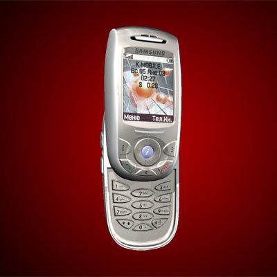 telephone samsung sgh-e800 3d model