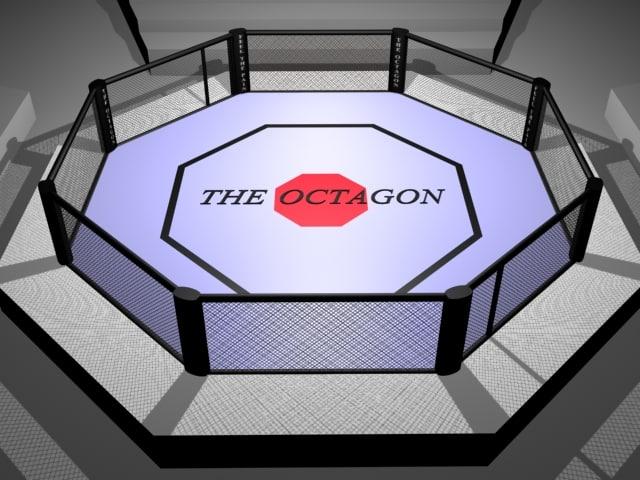 ufc type octagon fighting 3d model