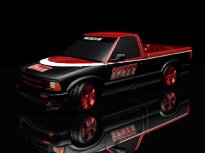 speed truck 3d model