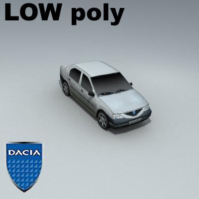 dacia logan 3d model
